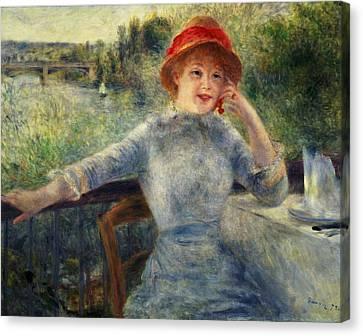 Alphonsine Fournaise Canvas Print by Pierre Auguste Renoir
