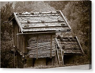 Alpine Hut Canvas Print by Frank Tschakert