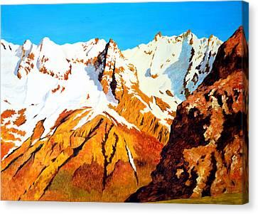 Alpine Landscape Canvas Print by Henryk Gorecki