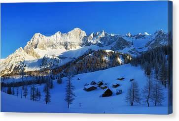 Alpine Winter Canvas Print by Mountain Dreams