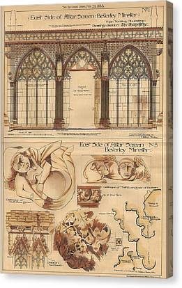 Altar Screen Beverly Minster East Riding Yorkshire England 1883 Canvas Print by Gibbons Sankley