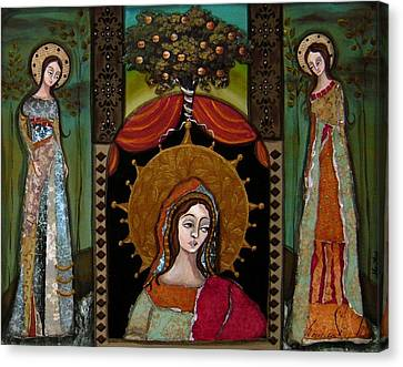 Altar Screen Canvas Print by LoriAnn Altered-posh