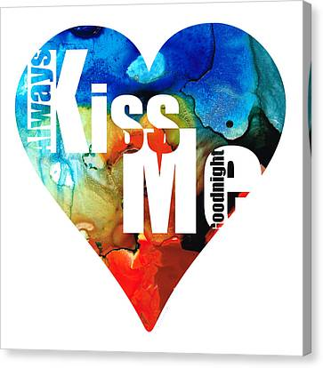 Always Kiss Me Goodnight 6 - Valentine's Day Canvas Print by Sharon Cummings