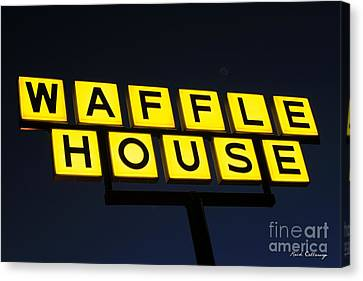Always Open Waffle House Classic Signage Art  Canvas Print by Reid Callaway