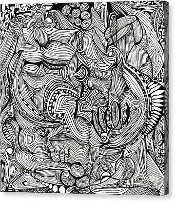 Amalgamate Canvas Print by Ronda Breen