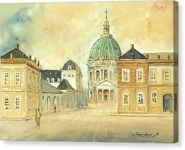 Amalienborg Palace Copenhagen Canvas Print by Juan  Bosco