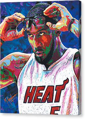 Amare Stoudemire Canvas Print by Maria Arango