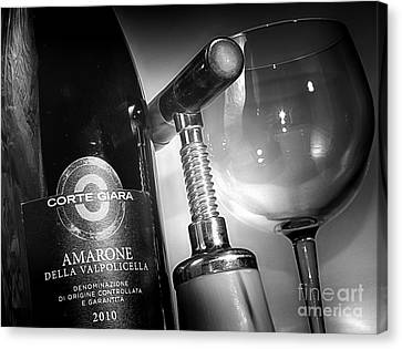 Amarone Black And White Canvas Print by Stefano Senise