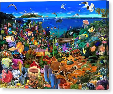 Amazing Coral Reef Canvas Print by Gerald Newton