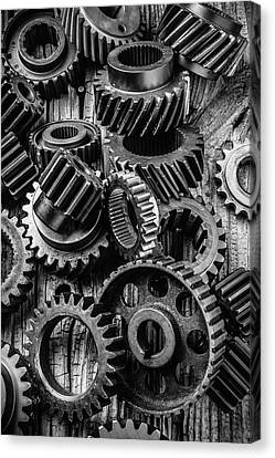 Amazing Gears Canvas Print by Garry Gay