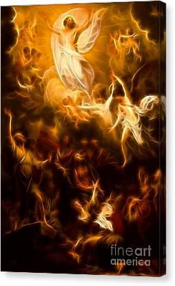 Amazing Jesus Resurrection Canvas Print by Pamela Johnson