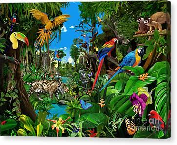 Amazon Sunrise Canvas Print by Gerald Newton