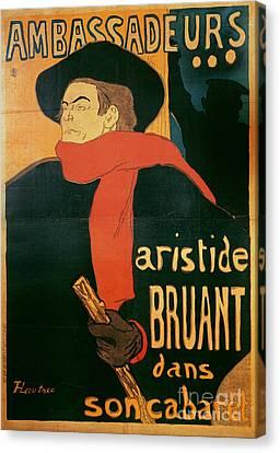 Ambassadeurs Canvas Print by Henri de Toulouse-Lautrec