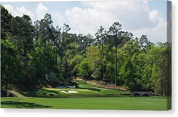 Amen Corner - 2015 Masters Canvas Print by Ed Waldrop