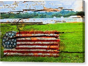 America Is Broken Canvas Print by Bob Pardue