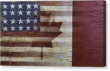 American And Canadian Flag Canvas Print by Garry Gay