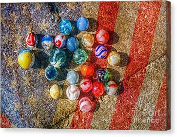 American As Marbles Canvas Print by Randy Steele