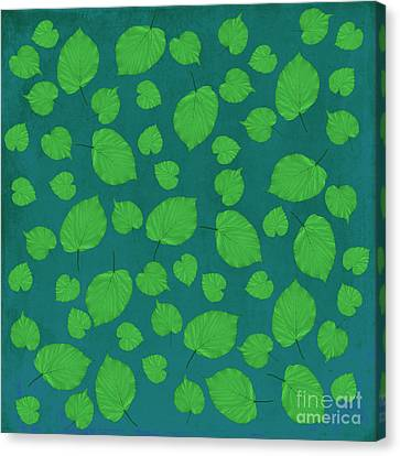 American Basswood In Green Canvas Print by Emily Kay