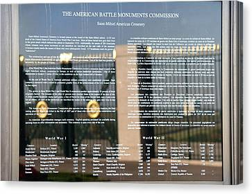 Canvas Print featuring the photograph American Battle Monuments Commission by Travel Pics