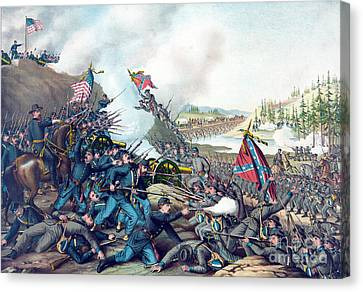 American Civil War, Battle Of Franklin Canvas Print by Science Source