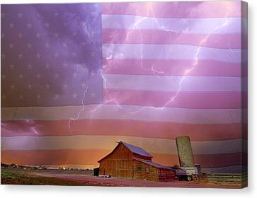 American Country Stormy Night Canvas Print by James BO Insogna