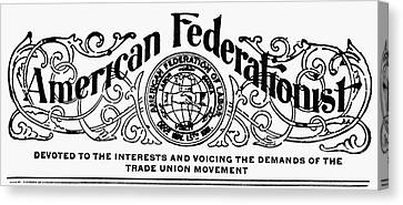 American Federationist Canvas Print by Granger