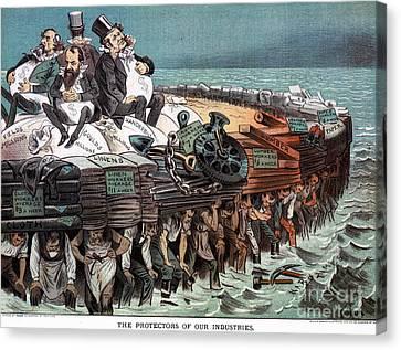 American Financiers, 1883 Canvas Print by Granger