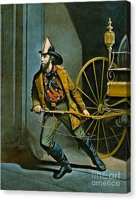 American Fireman 1858 Canvas Print by Padre Art