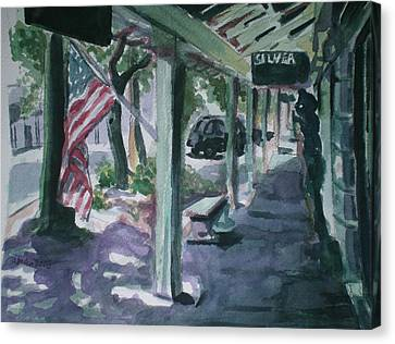 American Flag Canvas Print by Aleksandra Buha