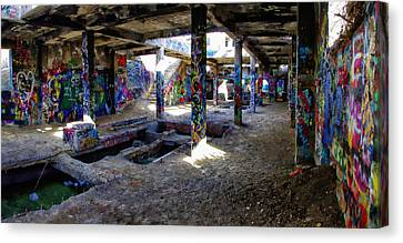 American Flat Mill Basement Virginia City Nevada Canvas Print by Scott McGuire