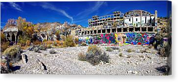 American Flat Mill Virginia City Nevada Panoramic Canvas Print by Scott McGuire