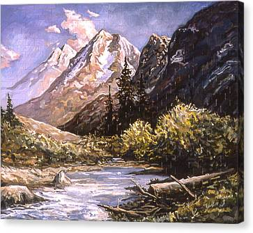 American Landscape Before Meg Canvas Print by Karl Frey