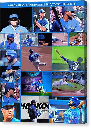 American League Division Series Champions 2015 Canvas Print by Nina Silver