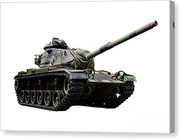 American M60 Patton Tank Canvas Print by Olivier Le Queinec