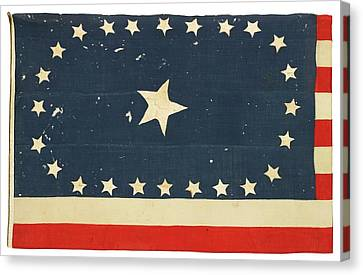 American National Flag Commemorating Arkansas Canvas Print by MotionAge Designs