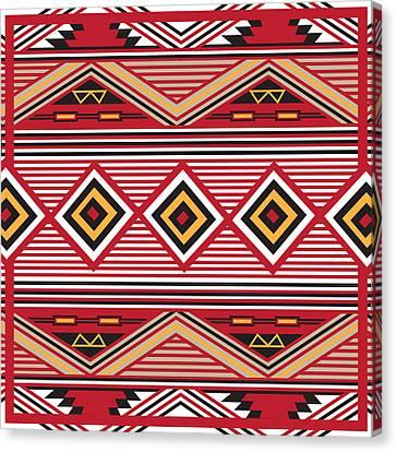 American Native Art No. 1 Canvas Print by Henrik Bakmann