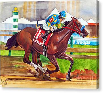 American Pharoah Canvas Print by Dave Olsen