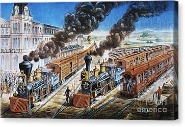 American Railway, 1876 Canvas Print by Granger