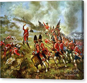 American Revolution, Battle Of Bunker Canvas Print by Science Source