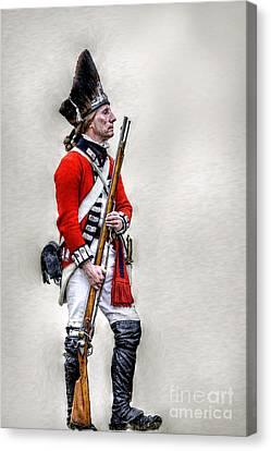 American Revolution British Soldier  Canvas Print by Randy Steele