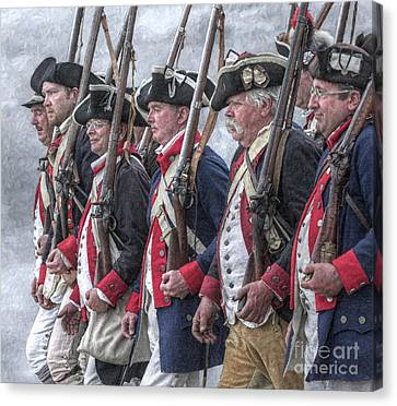 American Revolutionary War Soldiers Canvas Print by Randy Steele