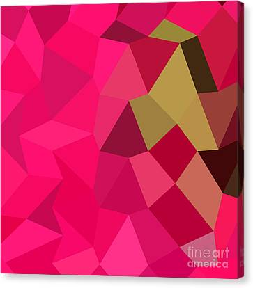 American Rose Abstract Low Polygon Background Canvas Print by Aloysius Patrimonio