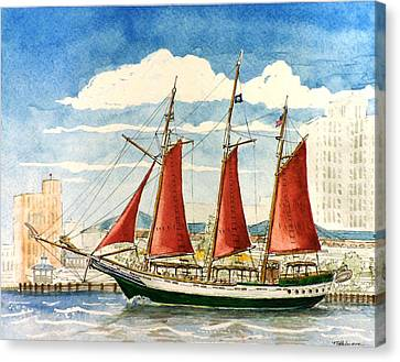 American Rover At Waterside Canvas Print by Vic Delnore