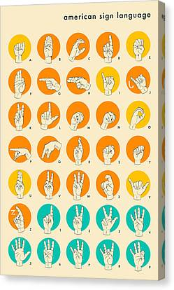 American Sign Language Hand Alphabet Canvas Print by Jazzberry Blue