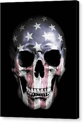 American Skull Canvas Print by Nicklas Gustafsson