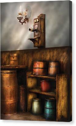 Americana -  In The Corner Of The General Store  Canvas Print by Mike Savad