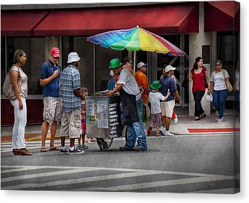 Americana - Mountainside Nj - Buying Ices  Canvas Print by Mike Savad