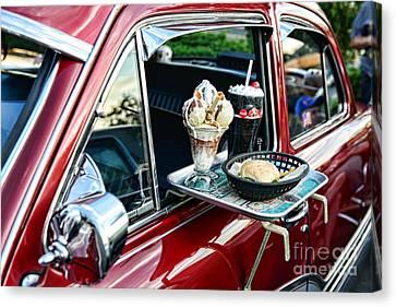 Americana - The Car Hop Canvas Print by Paul Ward