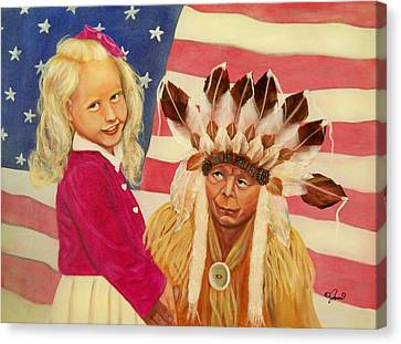 Americans New And Old Canvas Print by Joni McPherson