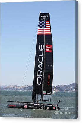America's Cup In San Francisco - Oracle Team Usa 4 - 5d18225 Canvas Print by Wingsdomain Art and Photography